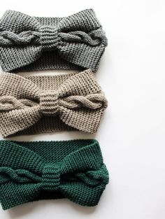Best Picture For knittings For Your Taste You are looking for something, and it is going to tell you Knitted Blankets, Knitted Hats, Big Hair Bands, Knitted Headband Free Pattern, Stretchy Headbands, Baby Headbands, Knitting Basics, Ear Warmers, Emerald Green