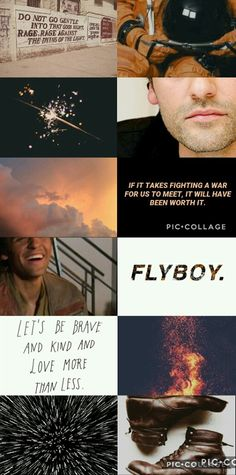 Modern Poe Dameron Aesthetic by Pretentious Shirley. star wars the force awakens oscar isaac character space x-wing pilot resistance rebellion white orange brown black **None of the pictures are mine**