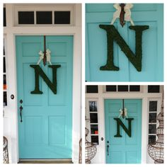 """New Moss Covered Door Letters have arrived at GOLD CONNECTION. What a great way to freshen up your front door for spring. GOLD CONNECTION - """"Stuff You've Just Gotta Have!!"""""""