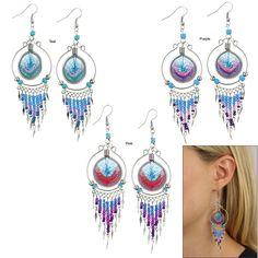 Peruvian Thread Chandelier Earrings