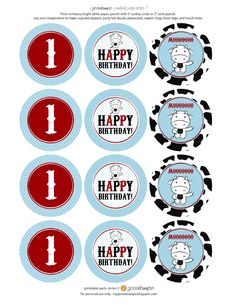 Found the adorable Cow Party Printables that would make great additions to your next birthday party at the farm! (plus, they are free to download and print)