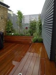 Image result for decking lights small garden wooden roof