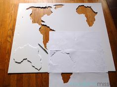 Diy world map wall art made with foam board projects to try diy world map wall art made with foam board projects to try pinterest board walls and craft gumiabroncs Images
