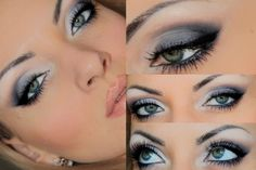 Amazing Make-Up for Green Eyes. Nope Amazing Make-Up for Green Eyes. Nope – Das schönste Make-up Makeup For Grey Dress, Makeup For Green Eyes, Blue Eye Makeup, Cute Makeup, Prom Makeup, Hair Makeup, All Things Beauty, Beauty Make Up, Hair Beauty