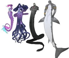 i'm pinning this to overwatch bc you can't tell me this isn't Sombra, Widow, Reader and Doomfist . Fantasy Character Design, Character Design Inspiration, Character Art, Mythical Creatures Art, Magical Creatures, Mermaids And Mermen, Merfolk, Mermaid Art, Mermaid Drawings