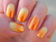 Fall ideas Fall Nail Art Designs, Beautiful Nail Designs, Nail Polish Designs, Cool Nail Designs, Nails Design, Nail Art Orange, Orange Nail Polish, Orange Nails, Orange Glitter