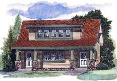 Garage Plan 55553 - Craftsman Style 2 Car Garage Apartment Plan with 905 Sq Ft, 1 Bed, 1 Bath Bungalow Style House, Bungalow House Plans, Craftsman Style House Plans, Bedroom House Plans, Craftsman Houses, Bungalow Exterior, Garage Apartment Plans, Garage Apartments, Garage Plans