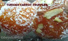 Turkish Carrot Truffles Indian Dessert Recipes, Indian Sweets, Ethnic Recipes, Gajar Ka Halwa, How To Make Dough, Eat Happy, Wonderful Recipe, Recipe Please, Fun Desserts
