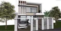 Modern Two Storey House Concept with 4 Bedrooms - Cool House Concepts Two Story House Plans, Two Storey House, Ground Floor, Home Goods, Bedrooms, Home Appliances, Concept, Flooring, How To Plan