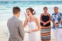 Nueva Vida Tulum Wedding. Photos from an intimate destination wedding at Nueva Vida's beach and a dinner reception at Ahau Tulum by Michael & Jennifer Lewis.