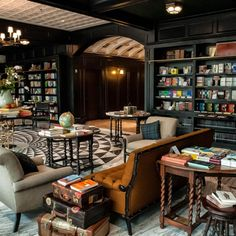 The Oxford Exchange Project Custom Molding Tampa Florida Coffee Shop Design, Cafe Design, Outdoor Shelves, Housing Works, Deco Restaurant, Lokal, Coffee And Books, Book Nooks, Decoration