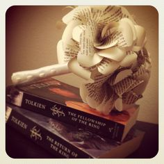 Book Page Bouquet  6 Roses for a Lord of the Rings Wedding! by TheNerdBoutique, $50.00 Pretty!!!