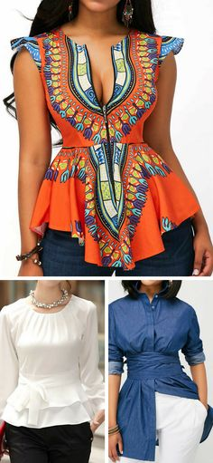 #liligal #blouse #shirts #top #womenswear #womensfashion Sheer Shirt Outfits, Floral Shirt Outfit, Fat Fashion, Fashion Outfits, Plus Size Fashion, Womens Fashion, Fashion Ideas, African Attire, African Wear