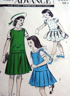Lovely VTG 1950s Girls #Dress Advance #Vintage #Sewing #Pattern 8686
