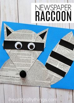 The Kissing Hand craft goes along with the popular children's book and is perfect for a back to school craft. Fun Chester the Raccoon Craft, back to school kids craft and newspaper crafts. #artsandcraftsideas,