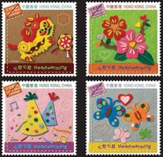 Hong Kong: special 'Heartwarming' stamp issue