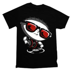 Family Guy Stewie DJ Turntable Funny Cartoon TV Show T-Shirt Tee