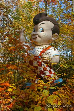 I just had to pin this - I used to work at a Big Boy in the UP. This is in the woods somewhere in the UP also... :)