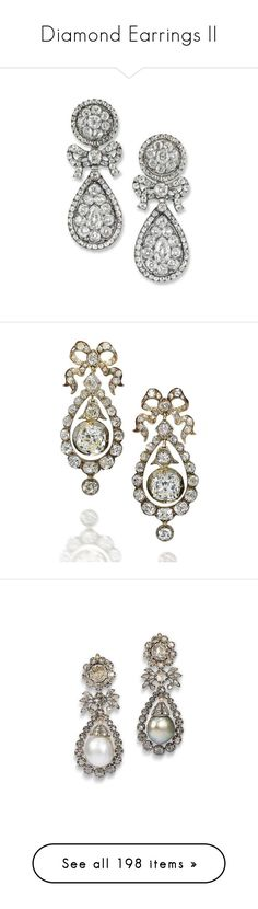 """Diamond Earrings II"" by sakuragirl ❤ liked on Polyvore featuring jewelry, earrings, orecchini, diamond jewellery, diamond pendant, antique earrings, earring jewelry, pave diamond pendant, brinco and joias"