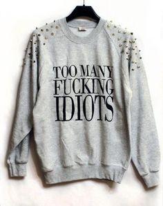 studs on sweatshirt - Google Search