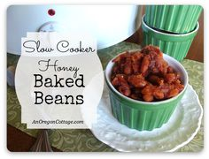 Slow Cooker Honey Baked Beans {and Maple Variation}