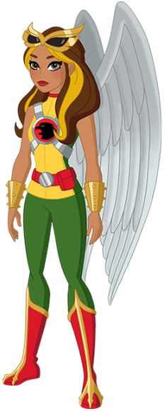 Another DC Super Hero Girls tribute. This one is for the famed Thanagarian, Kendra Saunders, better known to fans as Hawkgirl. In DC Sup. Super Hero High, Dc Super Hero Girls, Marvel Dc, Robert E Howard, Referee Costume, Hawkgirl, Wonder Woman, Dc Heroes, Comic Books Art