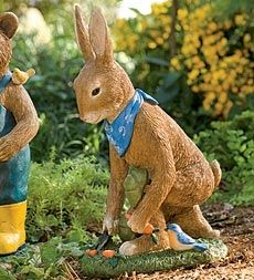 Hand-Painted Resin Gardening Rabbit Outdoor Statue Buy 2 or more at $34.95 each in Spring 1 2013 from Plow & Hearth on shop.CatalogSpree.com, my personal digital mall.