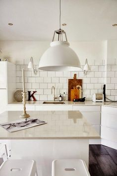 Subway tiles are beautiful both in the kitchen and in the bathroom. #metrotiles #kitchen