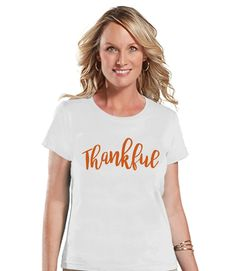 This shirt is perfect for celebrating this Thanksgiving! Our graphics are professionally printed directly onto the fabric for bright and vibrant designs which will last. The colors will not crack. A s
