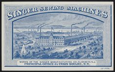 Trade card for Singer Sewing Machines, 34 Union Square, New York, New York, undated   Historic New England