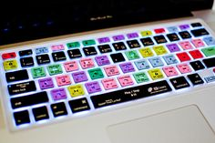 Love these laptop keyboard covers with shortcuts for Photoshop, Lightroom and more. Must have! $30