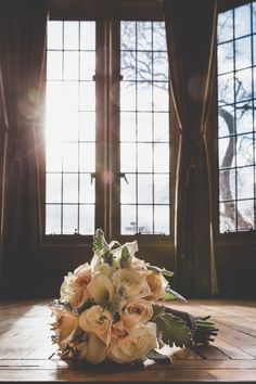 A stunning bridal bouquet and gorgeous light filtering through the windows at Casa Loma. Fab photo by of a winter wedding we designed with at Wedding Flowers, Wedding Dresses, Blush Roses, Bride Bouquets, Calla Lily, Wedding Designs, Floral Design, Wedding Planning, Beautiful Pictures