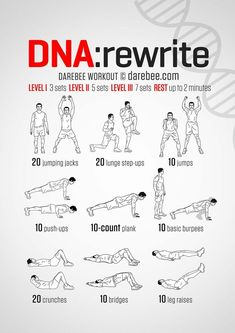 DNA Rewrite Workout - Workout for later! Workout Routine For Men, Gym Workout Tips, Workout Challenge, Easy Workouts, At Home Workouts, Fitness Workouts, Yoga Fitness, Calisthenics Workout, Dumbbell Workout