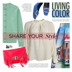 """""""Colorful day"""" by mada-malureanu ❤ liked on Polyvore featuring Uniqlo, American Vintage, Diane Von Furstenberg, Sheinside, dianevonfustenberg and shein"""