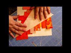 Learn paper piecing...Basket Weave Star
