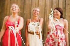 I love the bell wands- this is one of the first unique alternatives to confetti or rice that i've seen
