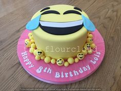 Emoji birthday cake.