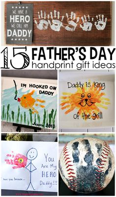 Father's Day Handprint Gift Ideas from Kids (such cute crafts!)