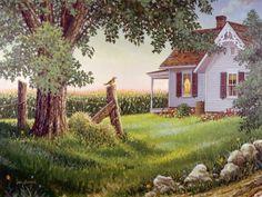18 ideas house illustration farm for 2019 Country Art, Country Life, Country Living, Country Homes, Farm Paintings, Life Paint, Farm Art, House Illustration, Illustrations