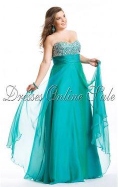 AU$139 - Affordable Plus Size Floor-length Sweetheart Hunter Chiffon Dress at Dressesonlineshops.com.au-117-pro-hsha_2en_11_42_21