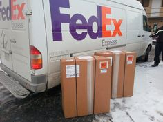 HTS Systems' HTS-20SFT order for Sysco Foods of Ventura, California ships via FedEx Express. Transform your commercial delivery business into a safe fleet operation with HTS Systems' fleet safety and productivity equipment.