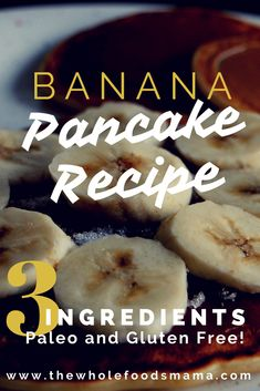 Easy, paleo, healthy, three ingredient, banana-oat-egg pancakes that your kids will love! Breakfast just got ahhh-mazing! Gluten Free Pancakes, Gluten Free Breakfasts, Gluten Free Recipes, Lunch Recipes, Healthy Recipes, Cheap Recipes, Easy Recipes, Healthy Food, Dessert Recipes