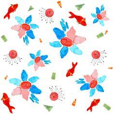 Yayoi Kusama, Textiles, Textile Design, Wearable Art, Flora, Watercolor, Prints, Painting, Inspiration