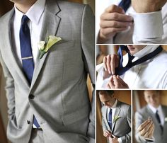 grey suit Wedding Stuff, Our Wedding, Wedding Ideas, Light Grey Suits, Luxury Fashion, Men's Fashion, Bridal Showers, Beautiful Moments, Mens Suits