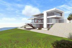 Bauhaus Architektur Einfamilienhaus modernes architektenhaus karlsruhe neubau 1 5 geschossig