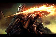 Vadril - Fire magic by TheMinttu.deviantart.com on @DeviantArt