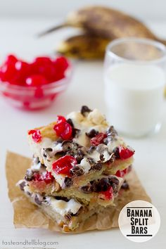 Banana Split Bars | www.tasteandtellblog.com @Joo Hee Harroun {Taste and Tell}