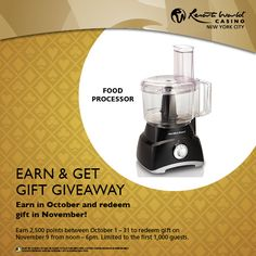 Earn points in October for a Hamilton Beach Food Processor