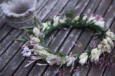 flower crown, tuberose, jasmine