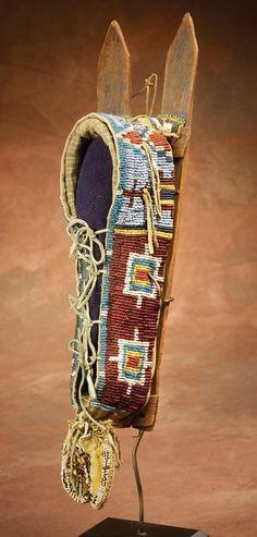 Kiowa Beaded Model Cradle, c 1880